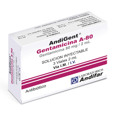 AndiGent A-80 Inyectable x 3 Viales 2 mL